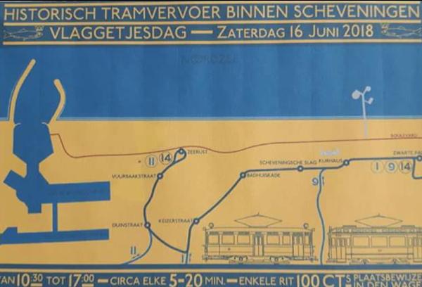 Historisch Tramvervoer op Scheveningen Vlaggetjesdag