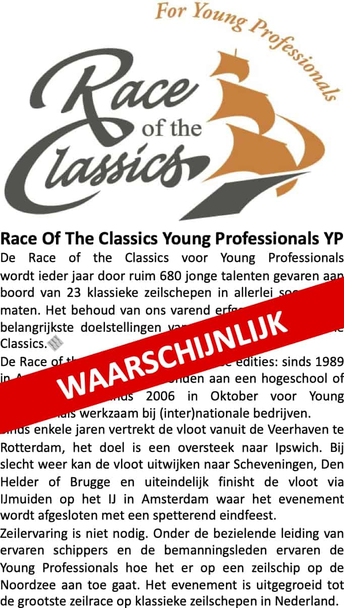 Race of the Classics YP for Young Professionals