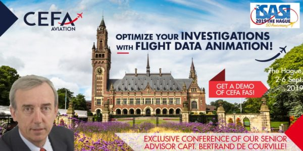ISASI 2019 annual conference (Intl Sty of Air Safety Invest) Den Haag