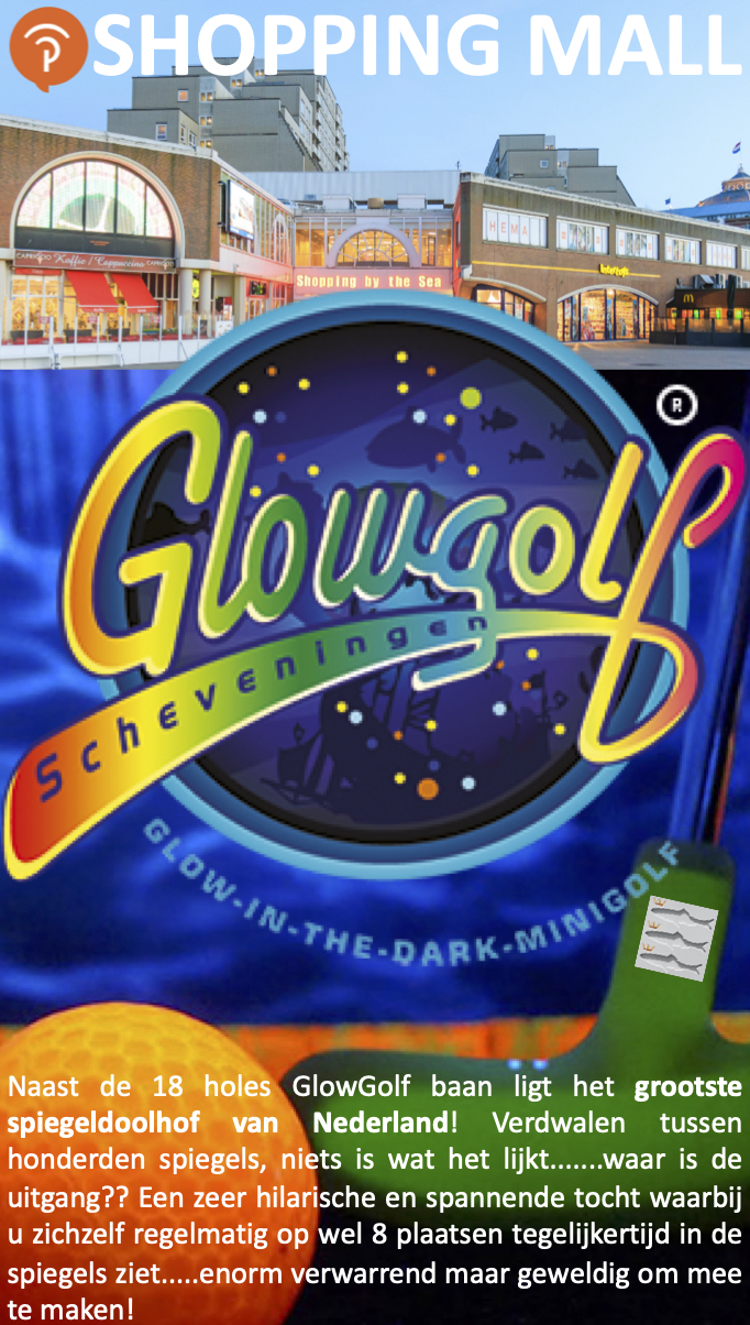 GlowGolf in the Dark Scheveningen SpiegelDoolhof Palace Promenade JANUARI